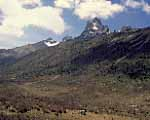 View of Mt Kenya peaks from Sirimon route